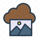 cloud, image, picture, server, storage icon