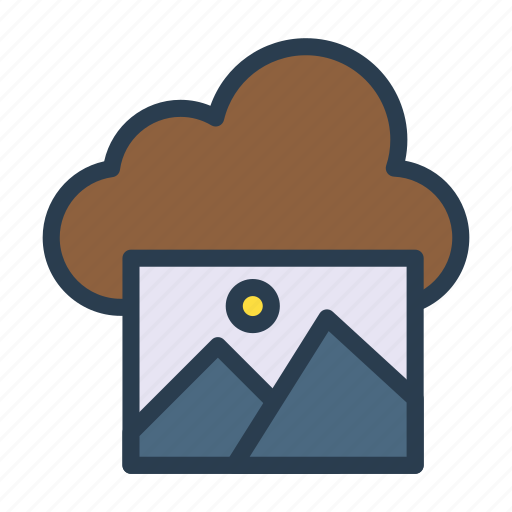 cloud, image, picture, server, storage icon