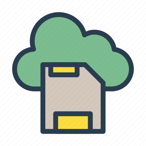 card, chip, cloud, sd, server icon