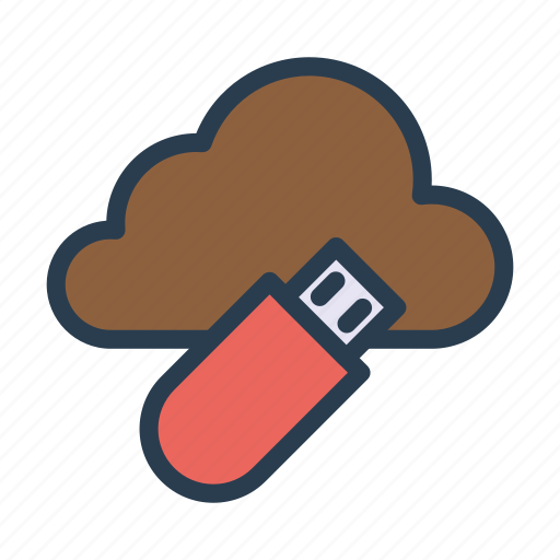 cloud, database, drive, flash, usb icon
