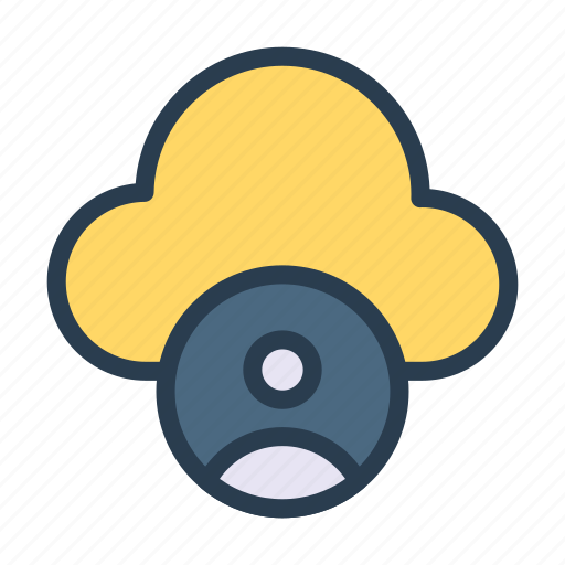 account, cloud, database, profile, user icon
