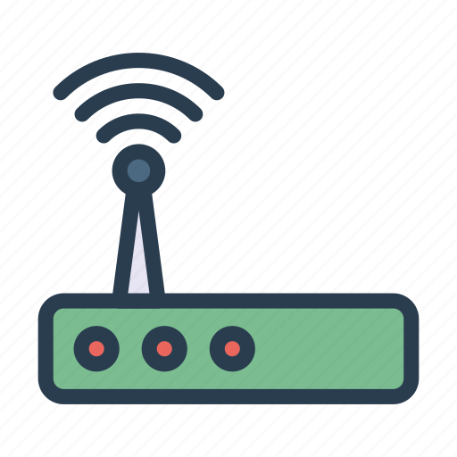 braodcast, modem, router, signal, wireless icon