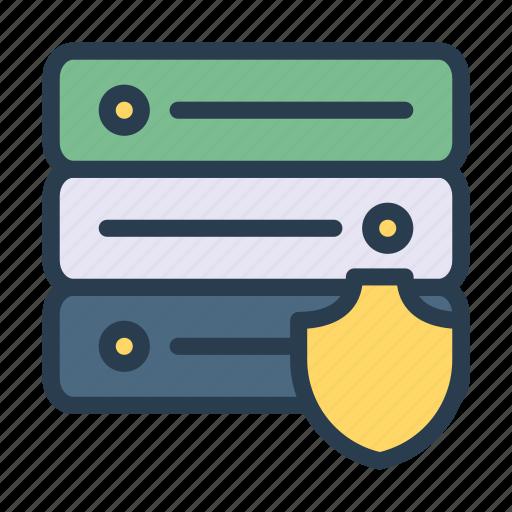 database, security, server, shield, storage icon