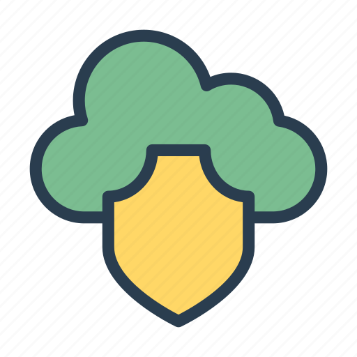 cloud, protection, security, shield, storage icon