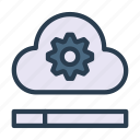 cloud, database, server, setting, storage icon