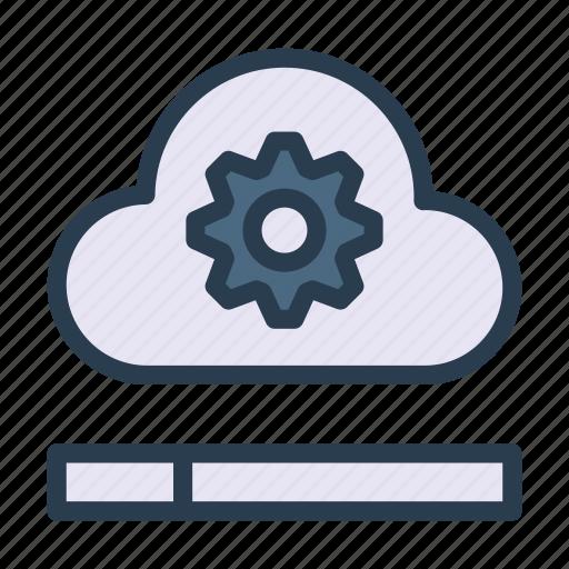 cloud, database, server, setting, storage icon