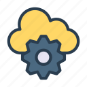 cloud, preference, server, setting, storage icon