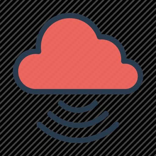 cloud, database, server, signal, wireless icon