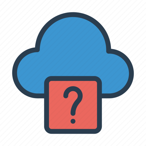 cloud, help, question, server, unknown icon