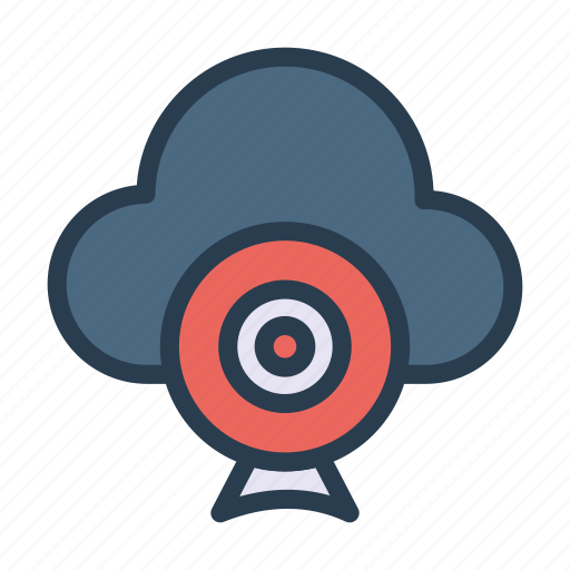 cloud, database, server, video, webcam icon