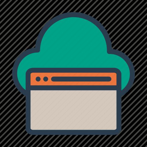 browser, cloud, internet, webpage, window icon