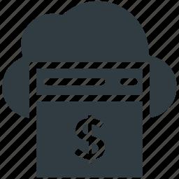cloud finance, online business, online money, online work, web business icon