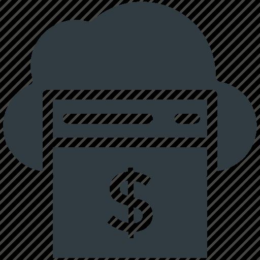 Cloud finance, online business, online money, online work, web business icon - Download on Iconfinder