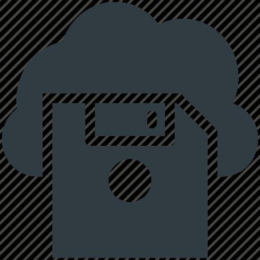 Cloud computing, cloud floppy, data storage, file storage, online storage icon - Download on Iconfinder