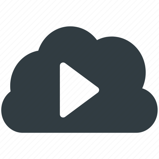 cloud media, cloud multimedia, cloud storage, media storage, online media icon