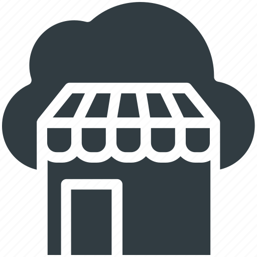 cloud computing, online shop, online shopping, online store icon