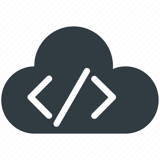 cloud coding, cloud computing, cloud html, cloud programming, html coding icon
