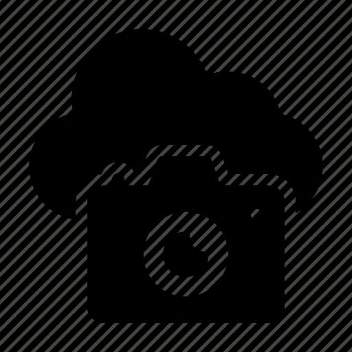 camera, capture, cloud, device, shutter icon