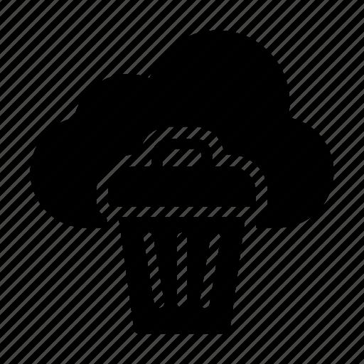 bin, cloud, delete, remove, trash icon