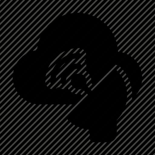 cloud, dish, satellite, signal, wireless icon