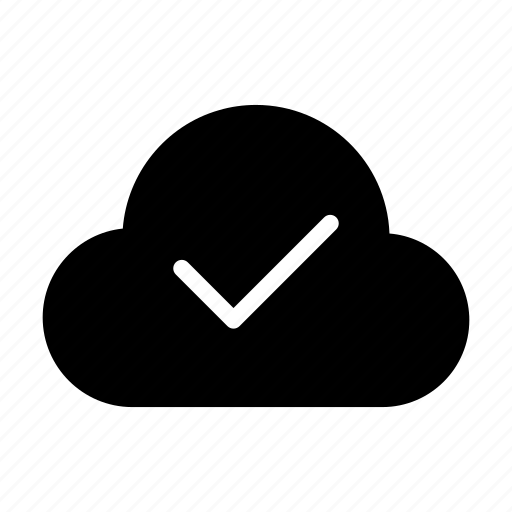 check, cloud, database, mark, tick icon