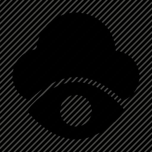 cloud, eye, look, server, view icon