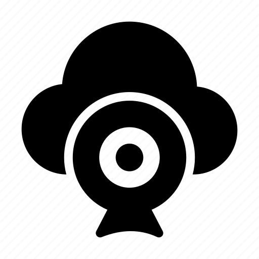 cloud, database, server, video, webcam icon