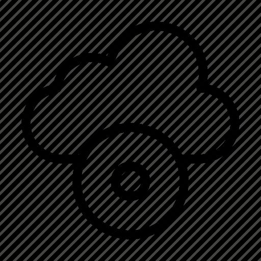 cd, cloud, disc, dvd, server icon