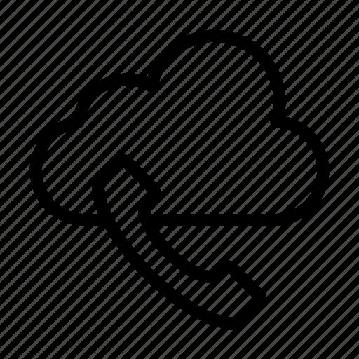 call, cloud, communicaton, phone, receiver icon