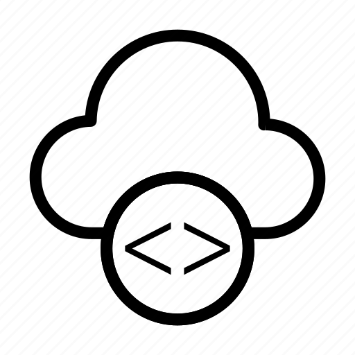 cloud, coding, scripting, server, storage icon