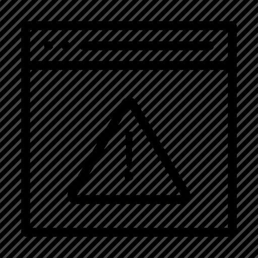 alert, error, notice, warning, webpage icon