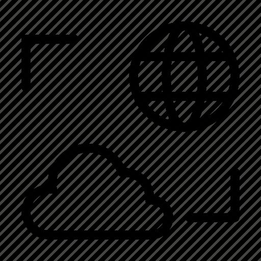 cloud, earth, global, server, storage icon