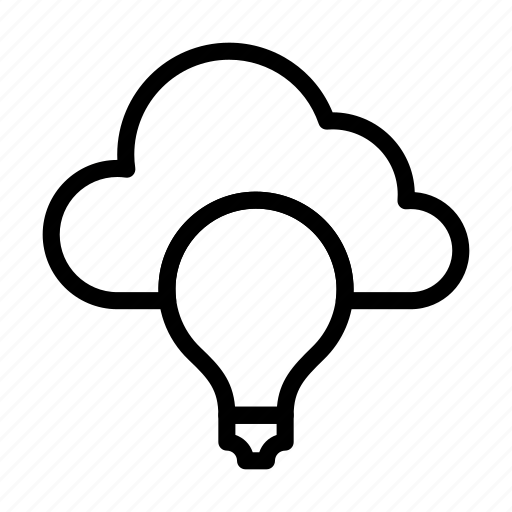 bulb, creativity, idea, light, server icon