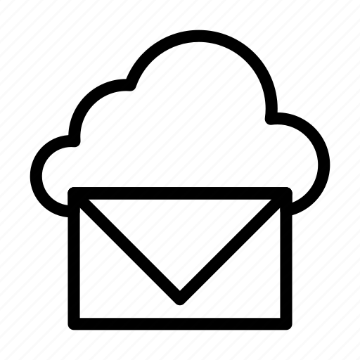cloud, inbox, letter, mail, message icon