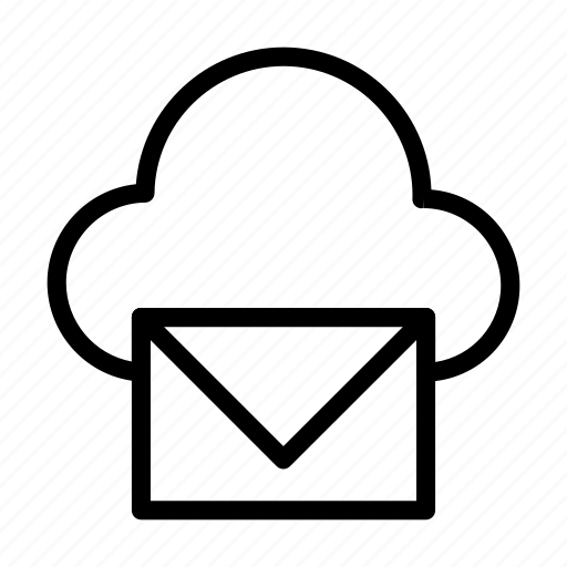 cloud, database, inbox, mail, message icon