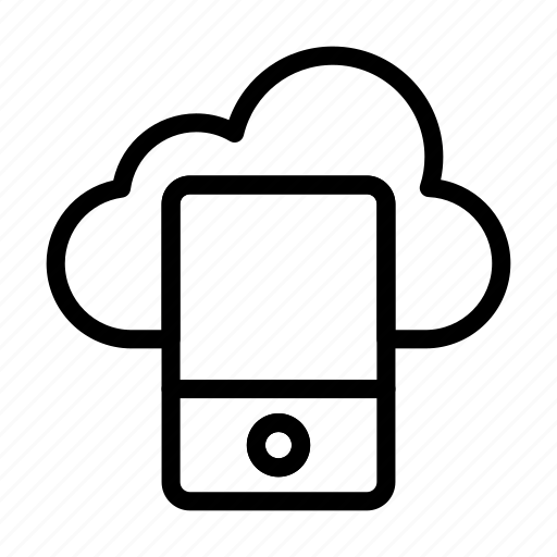 cloud, database, device, mobile, phone icon
