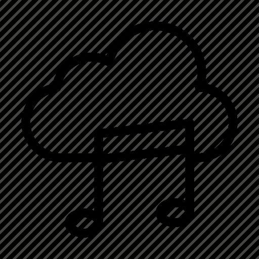 cloud, melody, music, server, storage icon