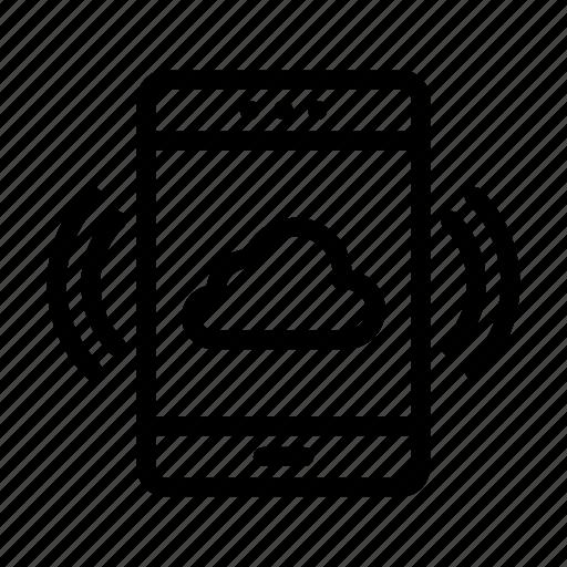cloud, gadget, mobile, phone, server icon