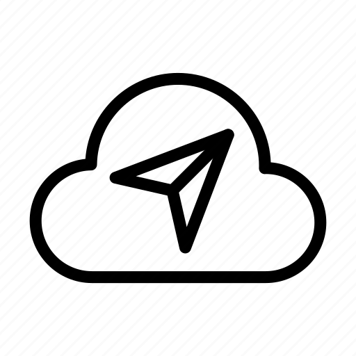 cloud, database, paperplane, send, server icon