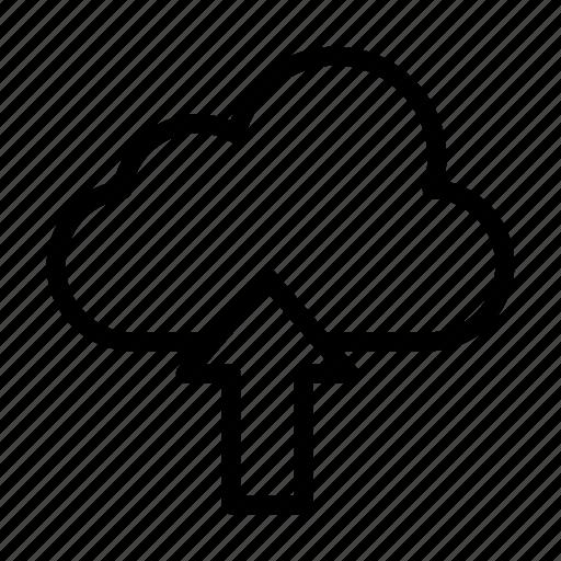 arrow, cloud, server, storage, upload icon