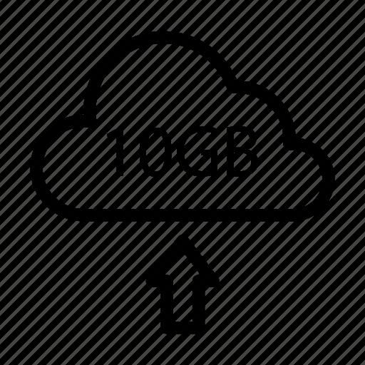 arrow, database, server, storage, upload icon