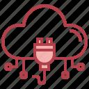 plug, cloud, computing, transfer, computer, storage