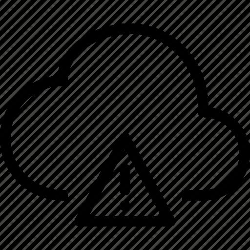 attention, cloud, error icon