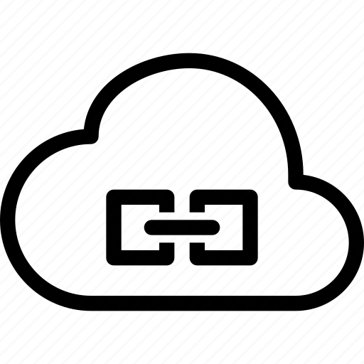 cloud, link icon