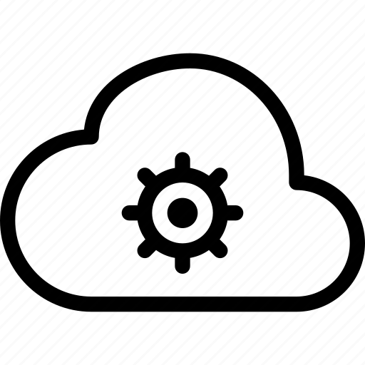 cloud, settings icon