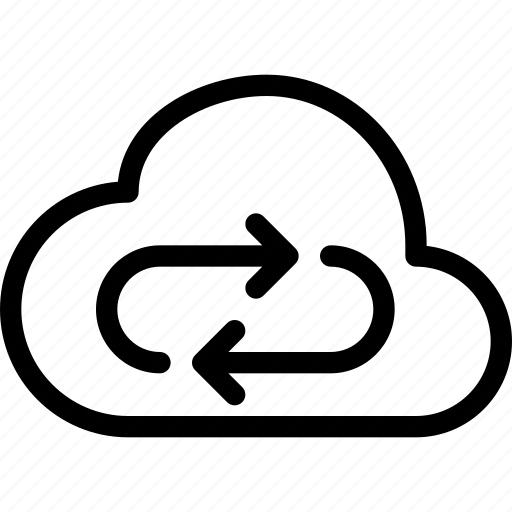 cloud, device, sync icon
