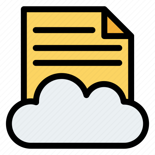 cloud, document, files, page, storage, web icon