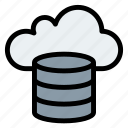 cloud, cloudy, database, forecast, hosting, rain icon