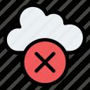 cloud, cross, internet, server icon