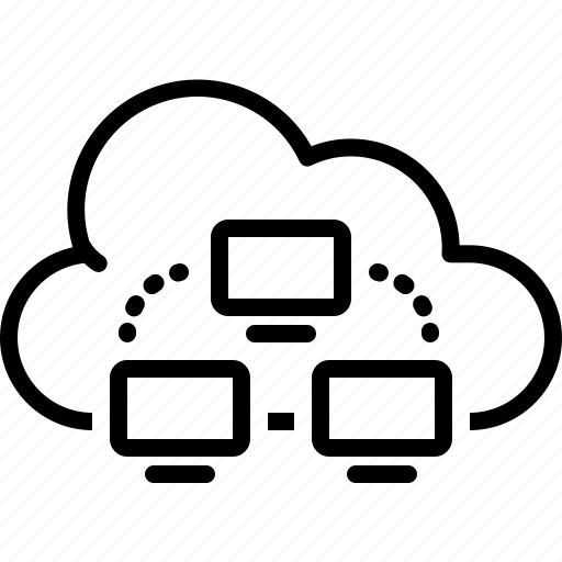 cloud computing, communication, connection, database, hosting, link, server icon